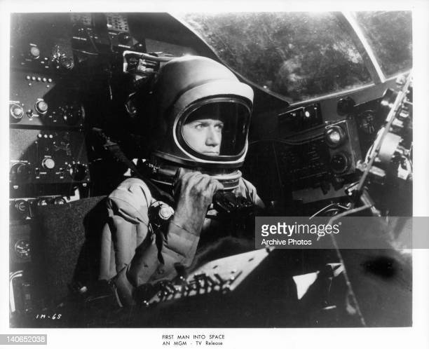 Astronaut in a scene from the film 'First Man Into Space' 1959