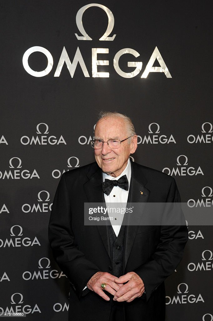 Astronaut Jim Lovell attends the OMEGA Speedmaster Houston Event at Western Airways Airport Hangar on May 12, 2015 in Sugar Land, Texas.