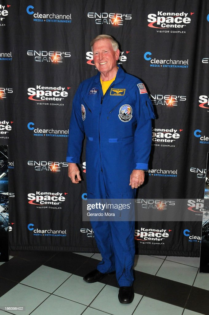 Astronaut Jon McBride poses at the 'Ender's Game' special screening hosted by Kennedy Space Center and Clear Channel at Regal Winter Park on October...