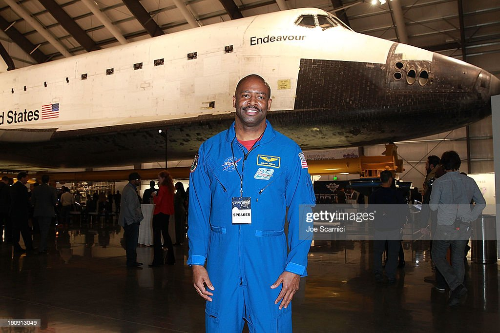 Astronaut Leland Melvin attends Will.I.Am's annual TRANS4M Day Conference focusing on TRANS4Ming America in 2013 on February 7, 2013 in Los Angeles, California.