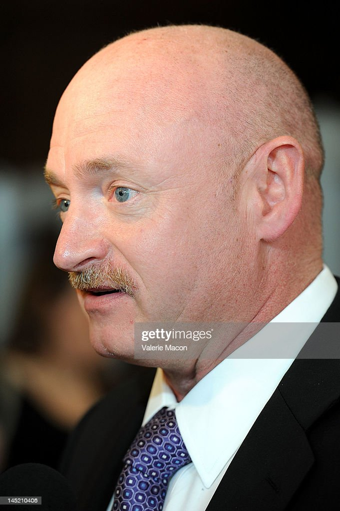 Astronaut Mark Kelly arrives at the Simon Wiesenthal Center's Annual National Tribute Dinner Honoring Jerry Bruckheimer at The Beverly Hilton Hotel on May 23, 2012 in Beverly Hills, California.