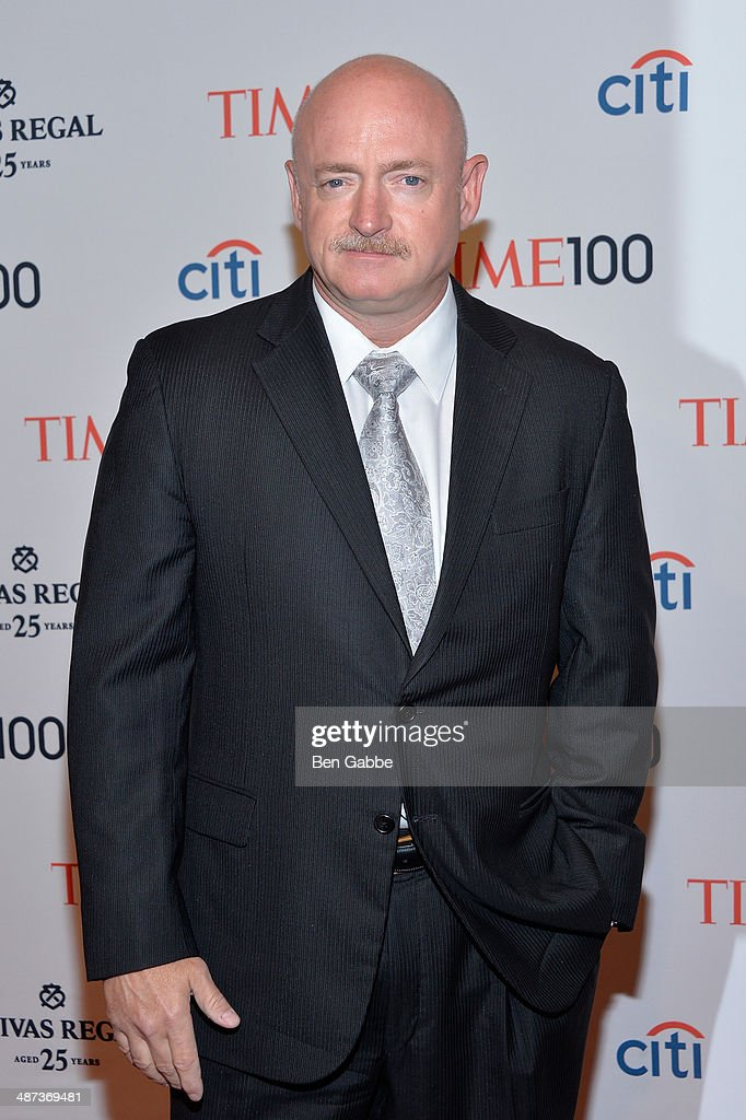 Astronaut Mark Kelly attends the TIME 100 Gala, TIME's 100 most influential people in the world, at Jazz at Lincoln Center on April 29, 2014 in New York City.