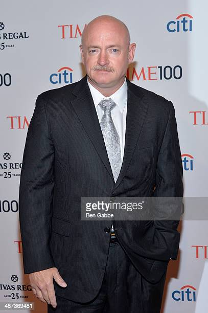 Astronaut Mark Kelly attends the TIME 100 Gala TIME's 100 most influential people in the world at Jazz at Lincoln Center on April 29 2014 in New York...