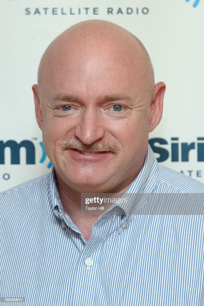 Astronaut Mark Kelly visits the SiriusXM Studios on October 3, 2013 in New York City.
