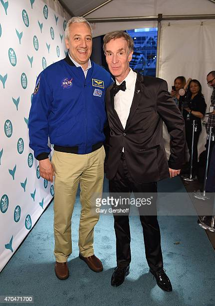 Astronaut Michael J Massimino and Bill Nye attend The 7th Annual Shorty Awards on April 20 2015 in New York City