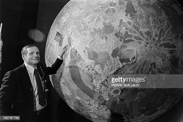 US astronaut of the first lunar mission Apollo 11 Neil Armstrong poses during a TV show on July 10 1979 in Paris AFP PHOTO PIERRE GUILLAUD