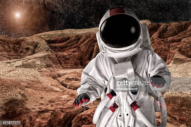 Astronaut On Mars or the Moon
