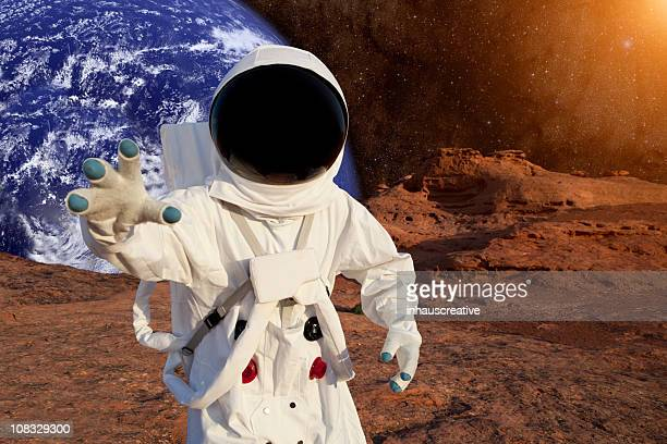 Astronaut On Mars