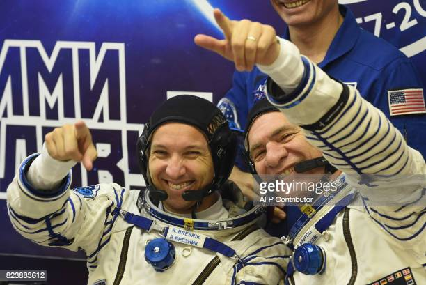 NASA astronaut Randy Bresnik and ESA astronaut Paolo Nespoli members of the main crew of the 52/53 expedition to the International Space Station...