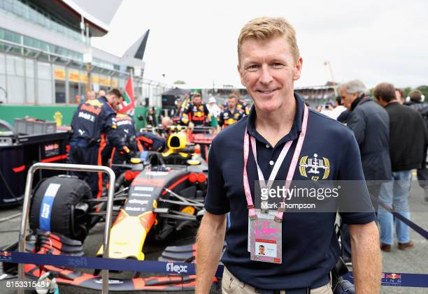 Astronaut Tim Peake on the grid with Red Bull Racing before the Formula One Grand Prix of Great Britain at Silverstone on July 16 2017 in Northampton...