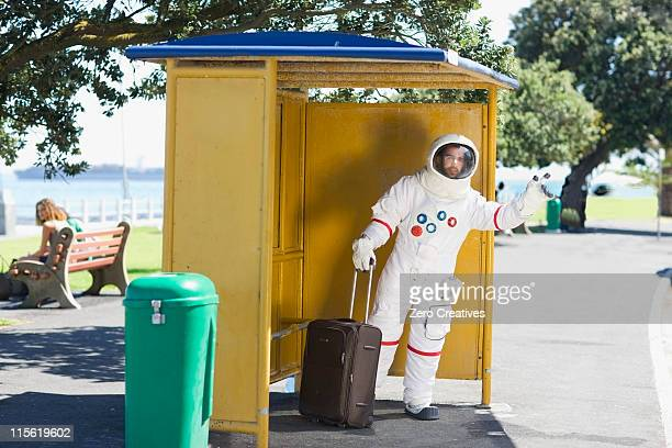 Astronaut waiting for the shuttle