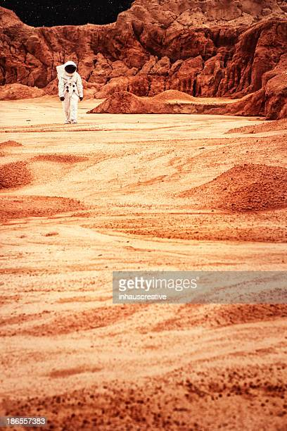 Astronaut Walking On Mars or the Moon