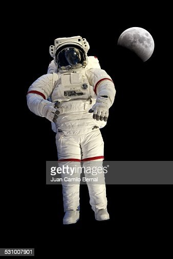 Astronaut with the moon in the back