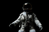 astronaut with black background