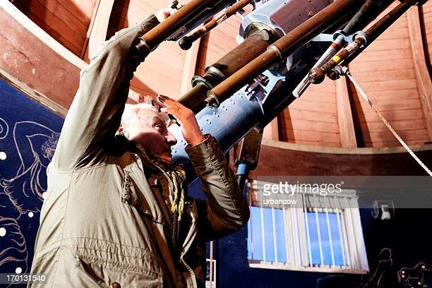 Astronomer in an observatory