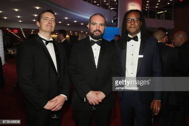 Astronomer Michael Gillon Professor Guillem Anglada and Author Colson Whitehead attend the 2017 Time 100 Gala at Jazz at Lincoln Center on April 25...