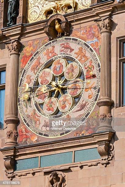 Astronomical clock at City Hall in Heilbronn