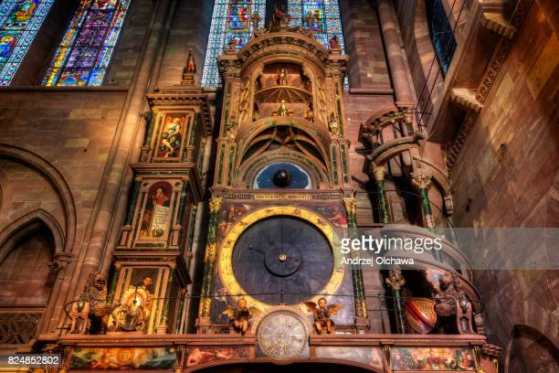Astronomical Clock located in the Cathédrale Notre-Dame of Strasbourg.