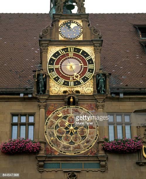 Astronomical clock on the facade of Heilbronn Town Hall (Rathaus)