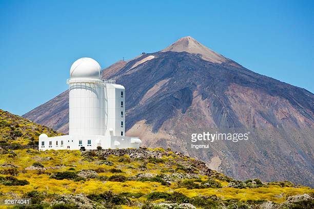 Astronomical observatory and Teide mountain