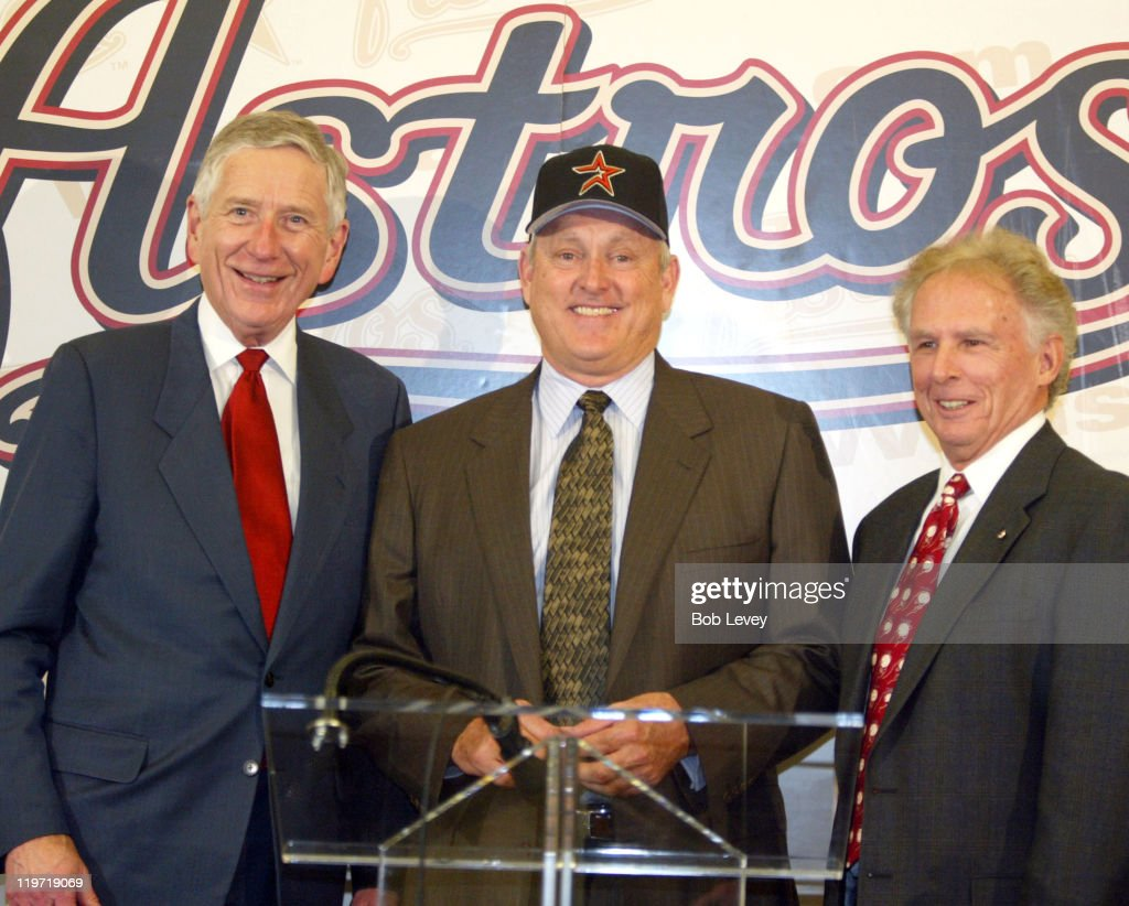 Astros Owner Drayton McLane Jr., <a gi-track='captionPersonalityLinkClicked' href=/galleries/search?phrase=Nolan+Ryan&family=editorial&specificpeople=202212 ng-click='$event.stopPropagation()'>Nolan Ryan</a>, and Astros Team President Tal Smith. The Houston Astros announced today that the club has agreed to terms with Hall of Fame pitcher <a gi-track='captionPersonalityLinkClicked' href=/galleries/search?phrase=Nolan+Ryan&family=editorial&specificpeople=202212 ng-click='$event.stopPropagation()'>Nolan Ryan</a> on a five-year personal services contract.