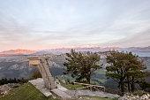Viewpoint of Fito, view of the Picos de Europa. Asturias, Spain, Mirador del Fitu
