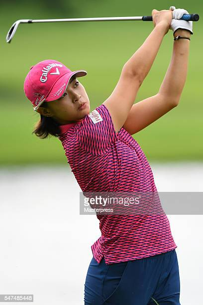 Asuka Kashiwabara of Japan shots during the first round of the Samantha Thavasa Girls Collection Ladies Tournament 2016 at the Eagle Point Golf Club...