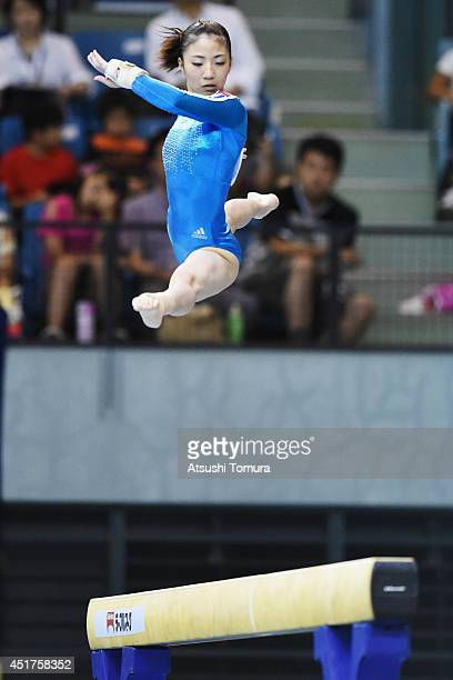 Asuka Teramoto of Japan competes in the Balance Beam during the 68th All Japan Gymnastics Apparatus Championships on July 6 2014 in Chiba Japan