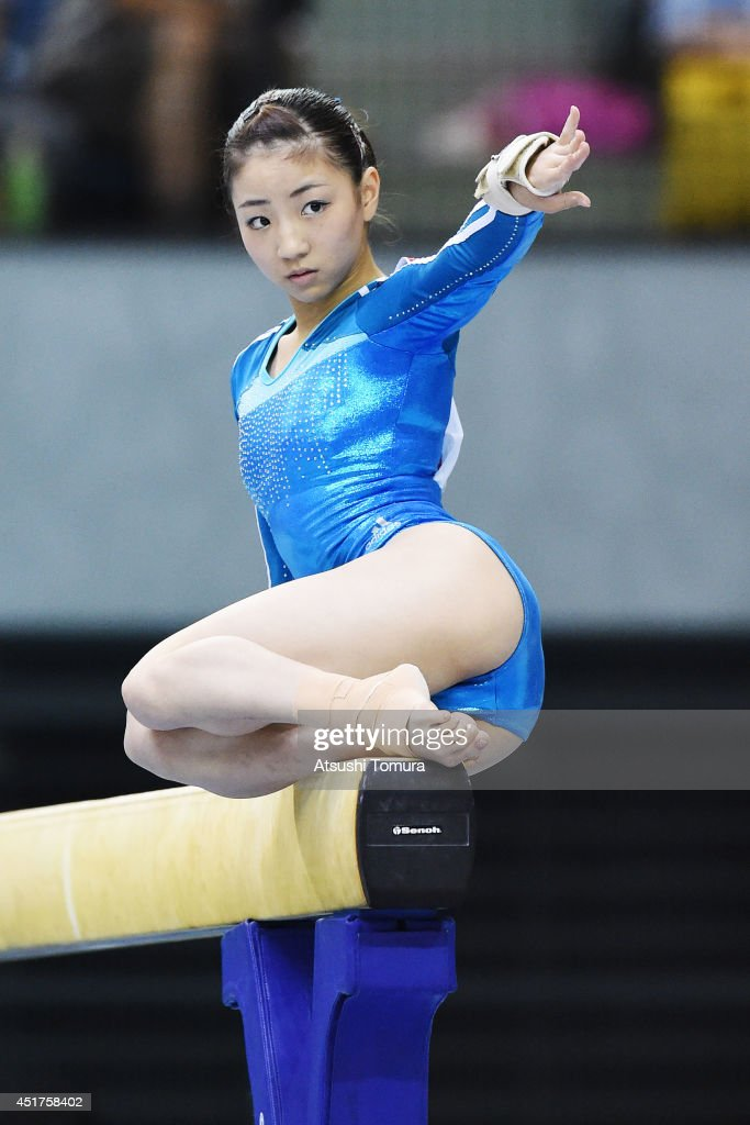 <a gi-track='captionPersonalityLinkClicked' href=/galleries/search?phrase=Asuka+Teramoto&family=editorial&specificpeople=7856851 ng-click='$event.stopPropagation()'>Asuka Teramoto</a> of Japan competes in the Balance Beam during the 68th All Japan Gymnastics Apparatus Championships on July 6, 2014 in Chiba, Japan.