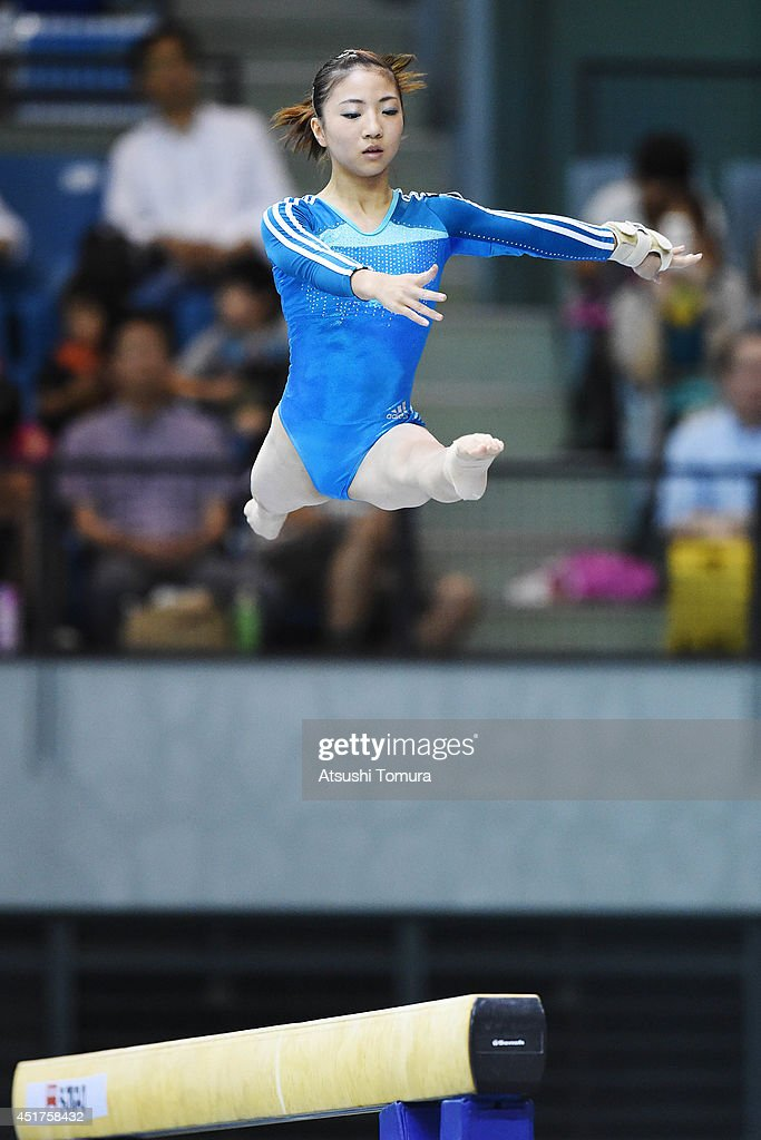 Asuka Teramoto of Japan competes in the Balance Beam during the 68th All Japan Gymnastics Apparatus Championships on July 6, 2014 in Chiba, Japan.