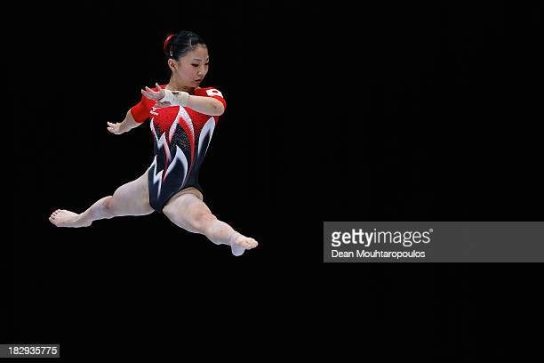 Asuka Teramoto of Japan competes in the Womens Balance Beam Qualification on Day Three of the Artistic Gymnastics World Championships Belgium 2013...