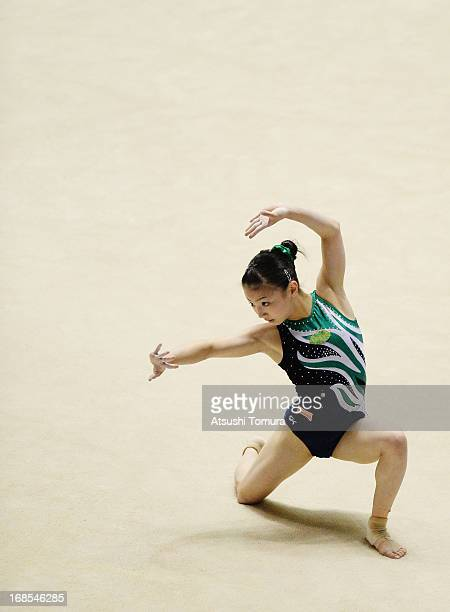 Asuka Teramoto of Japan competes on the floor during day one of the 67th All Japan Artistic Gymnastics Individual All Around Championship at Yoyogi...