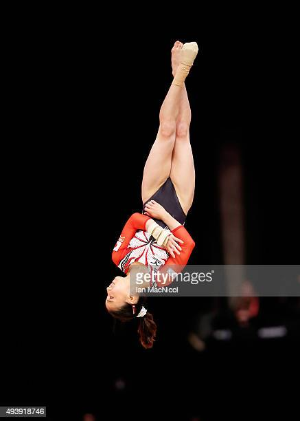 Asuka Teramoto of Japan competes on the Floor during Day One of the 2015 World Artistic Gymnastics Championships at The SSE Hydro on October 23 2015...