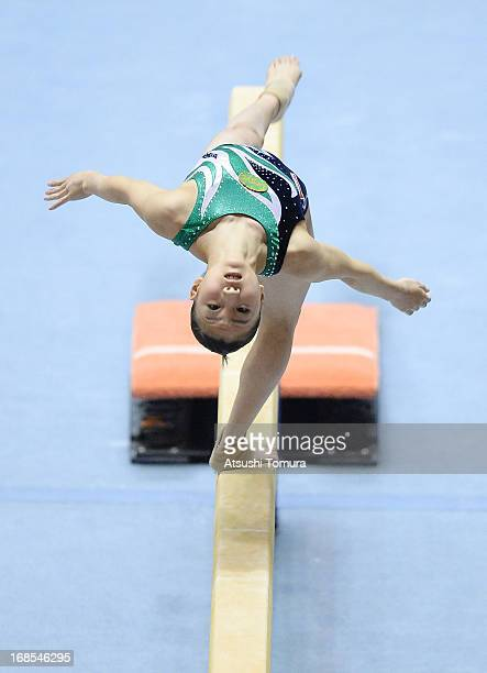Asuka Teramoto of Japan performs her balance beam routine during day one of the 67th All Japan Artistic Gymnastics Individual All Around Championship...
