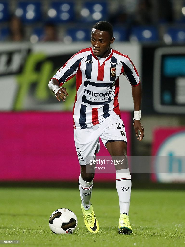 Asumah Abubakar of Willem II during the Dutch Eredivisie match between Willem II and Vitesse on august 6 2016 at the Koning Willem II stadium in...