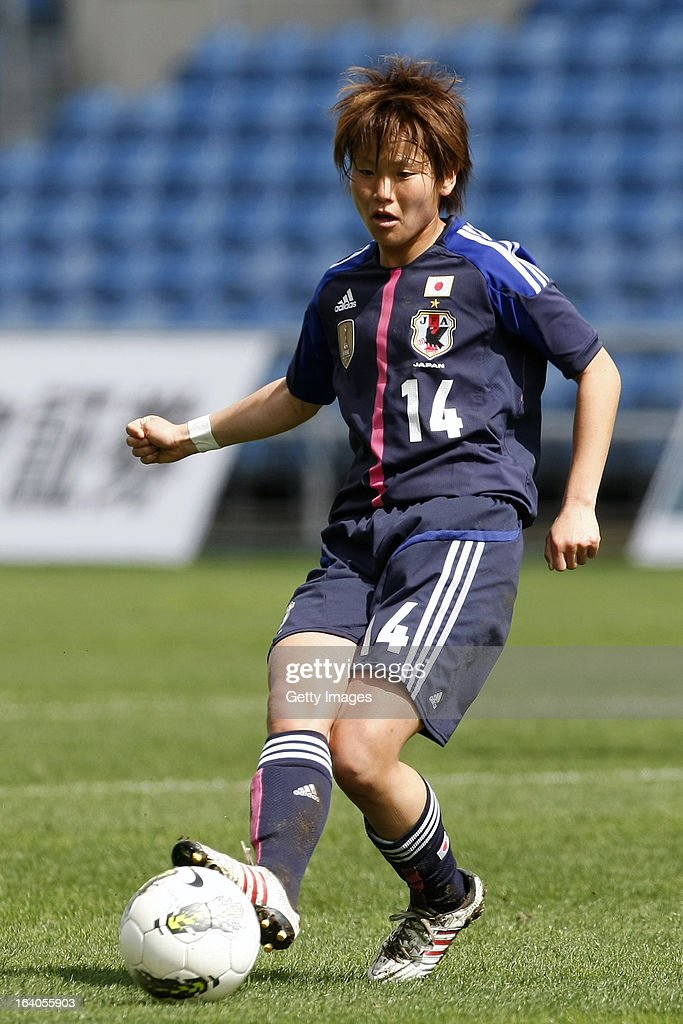 <a gi-track='captionPersonalityLinkClicked' href=/galleries/search?phrase=Asuna+Tanaka&family=editorial&specificpeople=5617218 ng-click='$event.stopPropagation()'>Asuna Tanaka</a> of Japan during the Algarve Cup 2013 match between Denmark and Japan at the Algarve stadium on March 11, 2013 in Faro, Portugal.