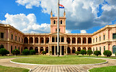 Asunción, Paraguay: government HQ building (1867) - facade on Paraguayo Independiente street - photo by M.Torres