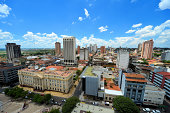 Asunción, Paraguay: city center skyline from the central square, Plaza de la Democracia - photo by M.Torres