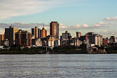 A view of the city of Asuncion, capital of Paraguay, from the Rio Paraguay.