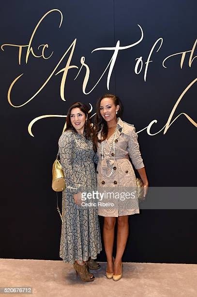 'DUBAI UNITED ARAB EMIRATES APRIL 12 Asunny Rahbar and Alia al Senussi at the Burberry Art of the Trench Middle East event at Mall of the Emirates on...