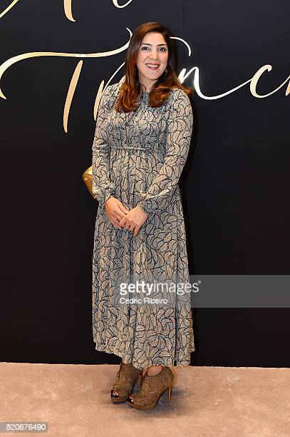 'DUBAI UNITED ARAB EMIRATES APRIL 12 Asunny Rahbar at the Burberry Art of the Trench Middle East event at Mall of the Emirates on April 12 2016 in...