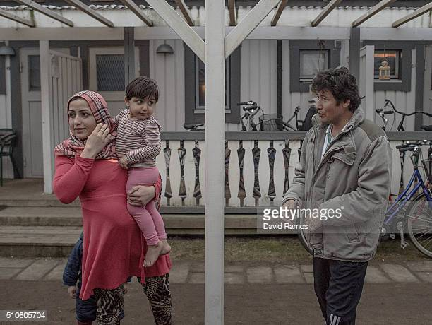 Asylum seekers from Afghanistan look on in a summer holidays resort where they are living for the last 4 months on February 7 2016 in Halmstad Sweden...