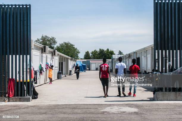 Asylum seekers reach their temporary housing units assigned to them at their arrival depending on their family situation gender or previsions of...