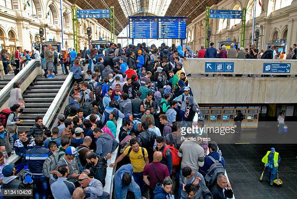 Asylumseekers throng at Keleti train station in Budspest They are believing that they can go to Austria Germany and beyond and hoping to end their...