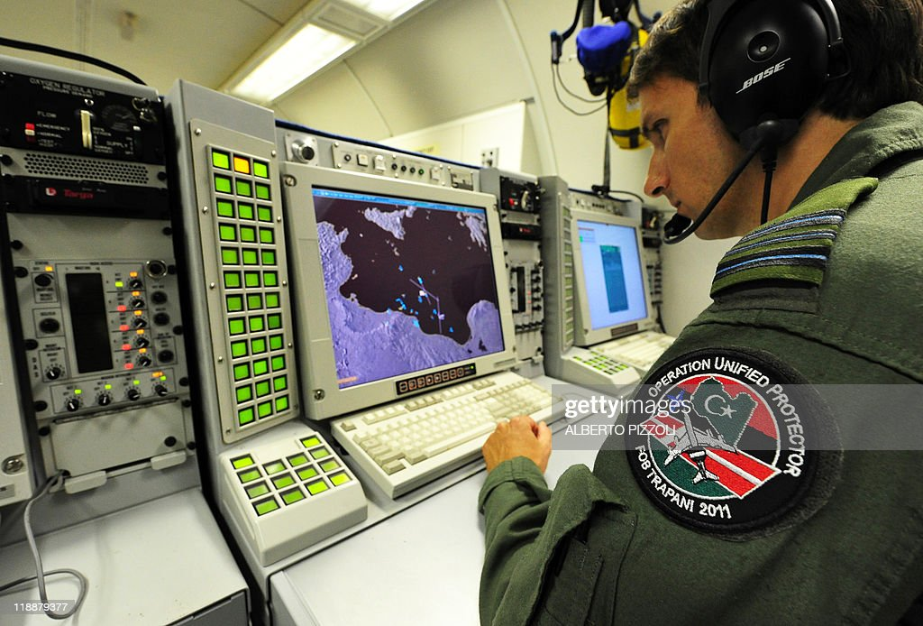 JULY 12 2011 at 11 AM A photo reviewed by a North Atlantic Treaty Organization official shows a crew member at work inside a NATO Airborne Warning...