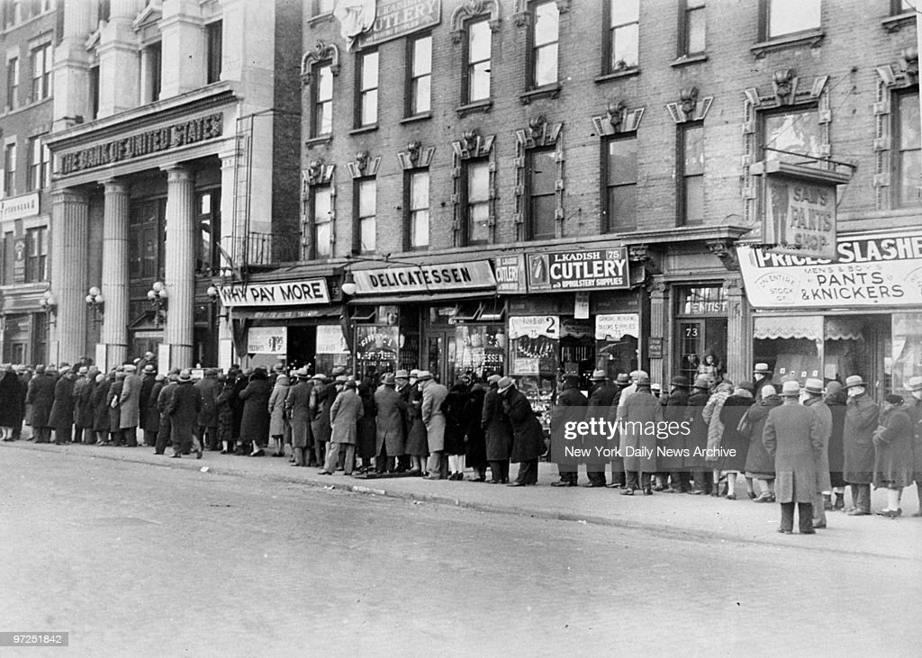 At 8 a.m., Dec. 16, 1930, more than 1,000 people lined up outside the Bank of United States branch at 77 Delancey St. The bank had failed and depositors sought certificates.