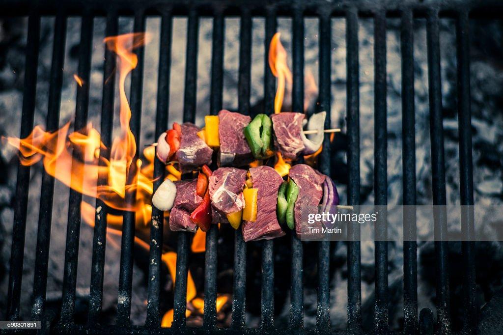 BBQ at a campsite