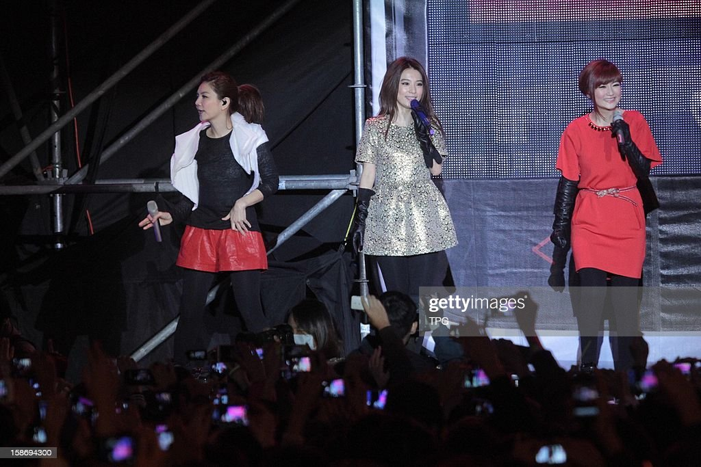 S.H.E at a Christmas concert on Sunday December 23, 2012 in New Taipei, Taiwan, China.