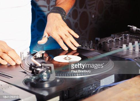 A DJ at a club : Stock Photo