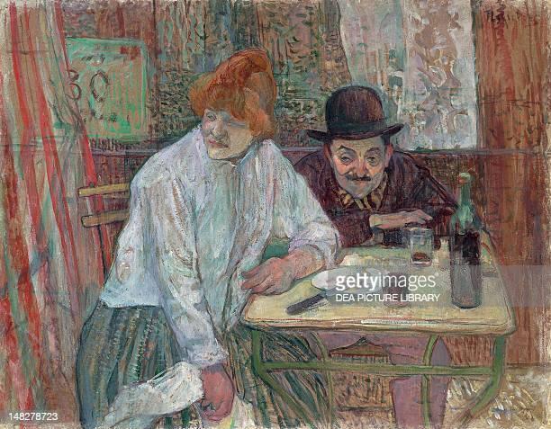 At a friend's restaurant by Henri de Toulouse Lautrec oil on cardboard 53x68 cm Boston Museum Of Fine Arts
